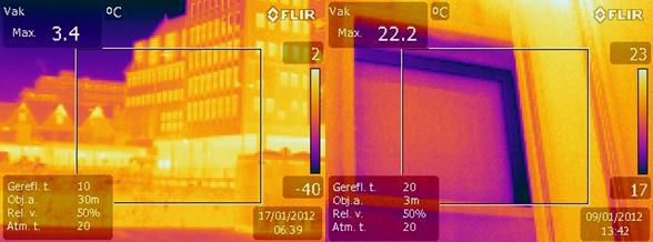 Thermografie lekkage bouwconstructie