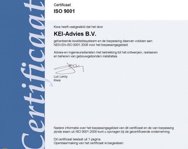 ISO9001:2015 gecertificeerd