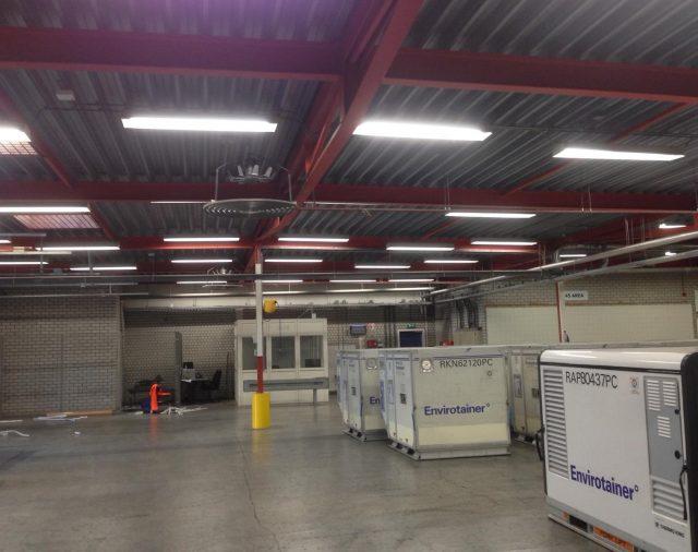 Vervanging verlichting warehouse Envirotainer